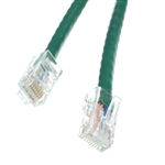 WholesaleCables.com 10X6-15100.5 6inch Cat5e Green Ethernet Patch Cable Bootless