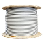 WholesaleCables.com 10X6-521NH 1000ft Shielded Cat5e Gray Ethernet Cable Pull Box Stranded Copper