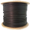 WholesaleCables.com 10X6-722NH 1000ft Direct Burial/Outdoor rated Cat5e Black Ethernet Cable Solid CMXT STP (Shielded Twisted Pair) Foil + Waterproof Tape 24 AWG Spool