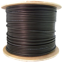10X6-822NH 1000ft Direct Burial/Outdoor rated Cat5e Black Ethernet Cable Solid CMX Gel-Filled 24 AWG Spool