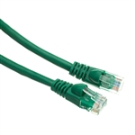 10X8-05100.5 6inch Cat6 Green Ethernet Patch Cable Snagless/Molded Boot