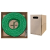 WholesaleCables.com 10X8-051TH 1000ft Bulk Cat6 Green Ethernet Cable Solid UTP (Unshielded Twisted Pair) Pullbox
