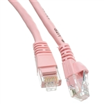 10X8-07201 1ft Cat6 Pink Ethernet Patch Cable Snagless/Molded Boot