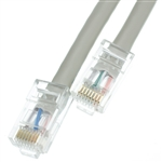 10X8-12101 1ft Cat6 Gray Ethernet Patch Cable Bootless