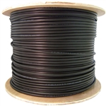 WholesaleCables.com 10X8-622NH 1000ft Direct Burial/Outdoor rated Cat6 Black Ethernet Cable Solid CMXT Waterproof Tape Spool