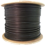 WholesaleCables.com 10X8-722NH 1000ft Direct Burial/Outdoor rated Cat6 Black Ethernet Cable Solid CMXT STP (Shielded Twisted Pair) Foil + Waterproof Tape 23 AWG Spool