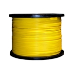 WholesaleCables.com 11F1-001NH 1000ft Bulk Plenum Zipcord Fiber Optic Cable Singlemode Duplex 9/125 Yellow Spool