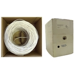 WholesaleCables.com 11K4-0491SH 1000ft Plenum Security Cable White 22/4 (22 AWG 4 Conductor) Stranded CMP Pullbox