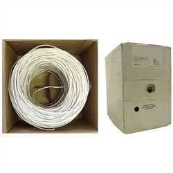 WholesaleCables.com 11K7-0291MH 1000ft Plenum Security Cable White 14/2 (14 AWG 2 Conductor) Stranded CMP Spool