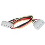 WholesaleCables.com 11W3-04212 12inch 4 Pin Molex Extension Cable 5.25 inch Male to 5.25 inch Female
