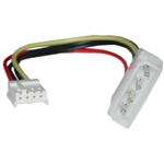 11W3-05206 6inch 4 Pin Molex to Floppy Power Cable 5.25 inch Male to 3.5 inch Female