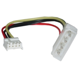 WholesaleCables.com 11W3-05206 6inch 4 Pin Molex to Floppy Power Cable 5.25 inch Male to 3.5 inch Female