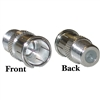 WholesaleCables.com 200-103 F-pin Coaxial Quick Connect Adapter Threaded F-pin Female to Quick F-pin Male