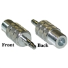 WholesaleCables.com 200-117 F-pin Female to 3.5mm Mono Male Adapter