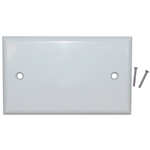 WholesaleCables.com 200-258WH Wall Plate White Blank Cover Plate