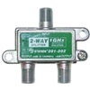 WholesaleCables.com 201-202 F-pin Coaxial Splitter 2 way 1 GHz 90 dB