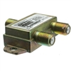 WholesaleCables.com 201-232 F-pin Coaxial Splitter 2 way 2 GHz 90 dB DC Passing on One Port
