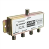 WholesaleCables.com 201-234 F-pin Coaxial Splitter 4 way 2 GHz 90 dB DC Passing on One Port