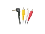 WholesaleCables.com Steren 255-219 6' 3.5mm To 3rca Camcorder Cable 6ft