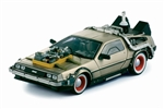 Back to The Future III Delorean (1981 1:18 Stainless Steel) 2712