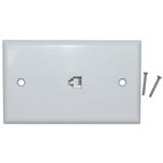 WholesaleCables.com 300-204WH 2 Line Telephone Wall Plate White RJ11 4 Conductor