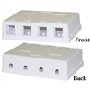 WholesaleCables.com 300-3144E Blank Surface Mount Box for Keystones 4 Hole White