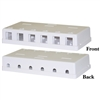 WholesaleCables.com 300-3146E Blank Surface Mount Box for Keystones 6 Hole White