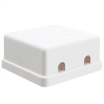 WholesaleCables.com 300-314DE Blank Surface Mount Box for Keystones 2 Hole White