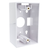 WholesaleCables.com 300-625WH Single Gang Surface Mount Box White
