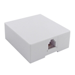 WholesaleCables.com 300-66FF-WH Phone Surface Mount Jack White RJ11 / RJ12 Data / Voice 6P6C (6 Pin 6 Conductor)