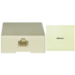 WholesaleCables.com 300-88FF Phone Surface Mount Jack Ivory RJ45 Data / Voice 8P8C (8 Pin 8 Conductor) not network