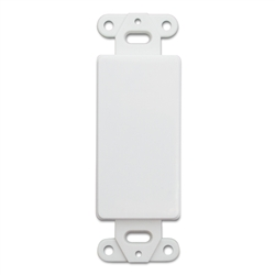 WholesaleCables.com 301-1005 Decora Wall Plate Insert White Blank