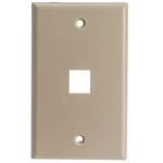 WholesaleCables.com 301-1K Keystone Wall Plate Beige 1 Hole Single Gang