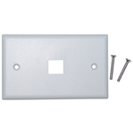 WholesaleCables.com 301-1K-W Keystone Wall Plate White 1 Hole Single Gang
