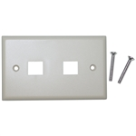 WholesaleCables.com 301-2K Keystone Wall Plate Beige 2 Hole Single Gang
