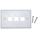 WholesaleCables.com 301-3K-W Keystone Wall Plate White 3 Hole Single Gang