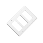 WholesaleCables.com 302-3-W Wall Plate White Blank Decora Triple Gang