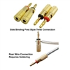 WholesaleCables.com 30C3-3168B Banana Plug for Speaker Cable Brass Black and Red 2 Piece