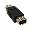 WholesaleCables.com 30E3-00400 Firewire Coupler / Gender Changer IEEE-1394a 6 Pin Female / 6 Pin Female