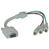 WholesaleCables.com 30H1-50200 1ft VGA to Component Video Adapter HD15 Male to 3 x RCA Female (RGB)