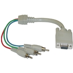 WholesaleCables.com 30H1-50300 1ft VGA to Component Video Adapter HD15 Female to 3 x RCA Male (RGB)