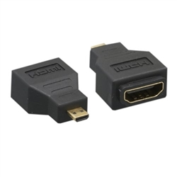 WholesaleCables.com 30HD-31400 Micro HDMI to HDMI Adapter Micro HDMI (Type D) Male to HDMI Female