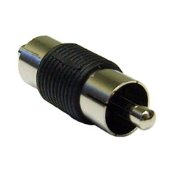 WholesaleCables.com 30R1-00100 RCA Coupler / Gender Changer RCA Male to RCA Male Nickel Plated