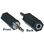 WholesaleCables.com 30S1-04300 3.5mm Stereo Female to 3.5mm Mono Male Adapter