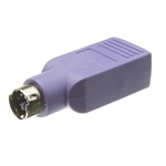 WholesaleCables.com 30U2-16300 USB to PS/2 Keyboard/Mouse Adapter Purple USB Type A Female to PS/2 (MiniDin6) Male