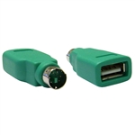 WholesaleCables.com 30U2-26300 USB to PS/2 Keyboard/Mouse Adapter Green USB Type A Female to PS/2 (MiniDin6) Male