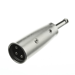WholesaleCables.com 30XR-12100 XLR Male to 1/4 Mono Male Adapter