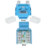 WholesaleCables.com 310-120BL Cat5e Keystone Jack Blue RJ45 Female to 110 Punch Down