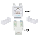 WholesaleCables.com 310-120WH Cat5e Keystone Jack White RJ45 Female to 110 Punch Down