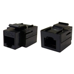 WholesaleCables.com 310-220BK Cat5e Keystone Inline Coupler Black RJ45 Female